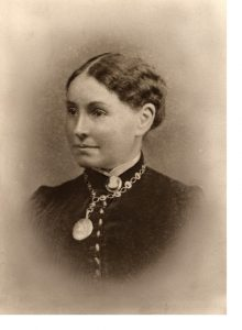 Matron Sarah Anne Bishop, circa 1875.